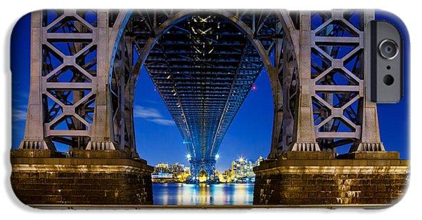 Suspension iPhone Cases - Williamsburg Bridge 2 iPhone Case by Az Jackson