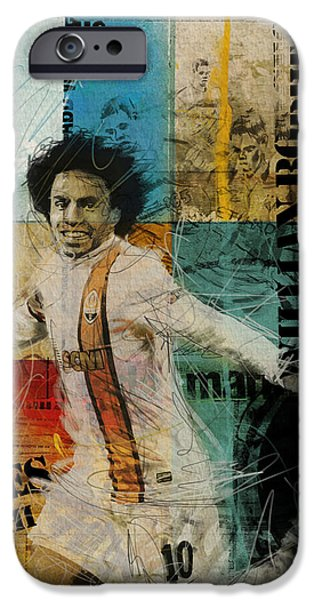 Brasil iPhone Cases - Willian Borges Di Silva - B iPhone Case by Corporate Art Task Force