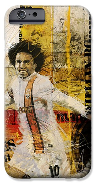 Brasil iPhone Cases - Willian Borges Di Silva iPhone Case by Corporate Art Task Force