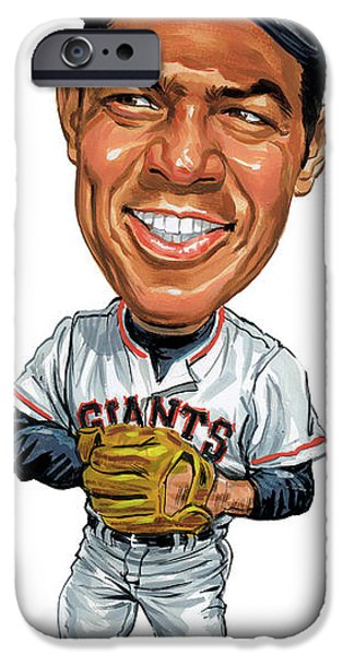 Mlb.com iPhone Cases - Willie Mays iPhone Case by Art