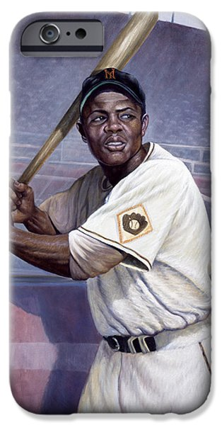Basket Mixed Media iPhone Cases - Willie Mays iPhone Case by Gregory Perillo