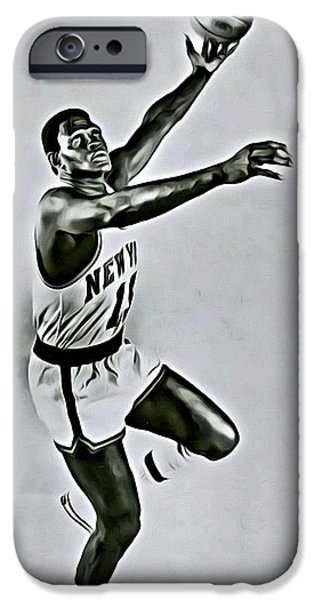 Knicks iPhone Cases - Willis Reed iPhone Case by Florian Rodarte
