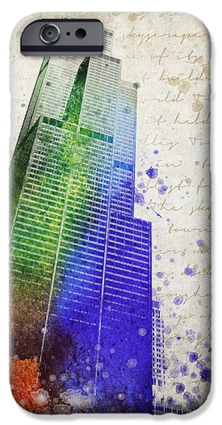 Willis Tower iPhone Cases - Willis Tower iPhone Case by Aged Pixel