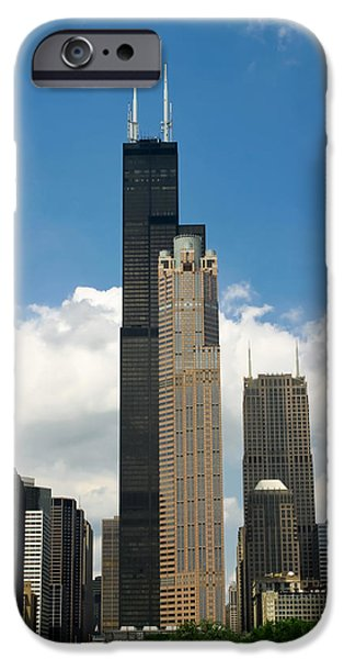 Willis Tower iPhone Cases - Willis Tower aka Sears Tower iPhone Case by Adam Romanowicz