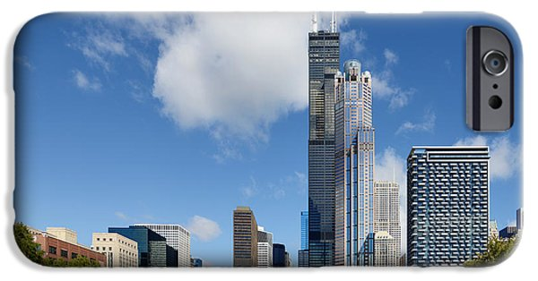 Willis Tower iPhone Cases - Willis Tower and 311 South Wacker Drive Chicago iPhone Case by Christine Till