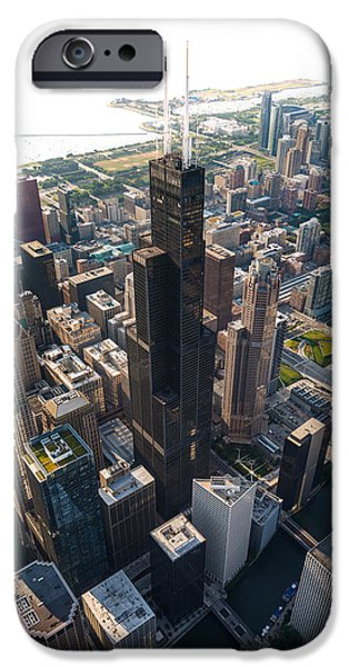 Willis Tower iPhone Cases - Willis Tower Chicago Aloft iPhone Case by Steve Gadomski