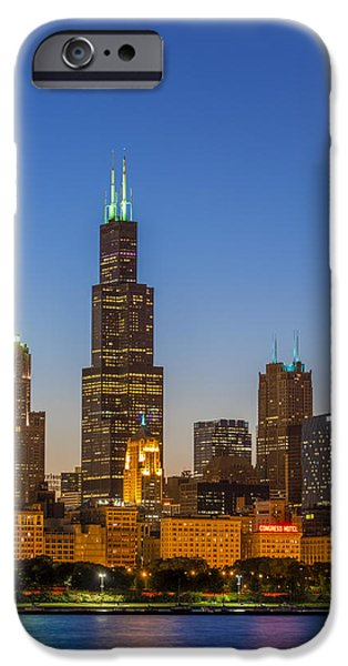 Sears Tower iPhone Cases - Willis Tower iPhone Case by Sebastian Musial