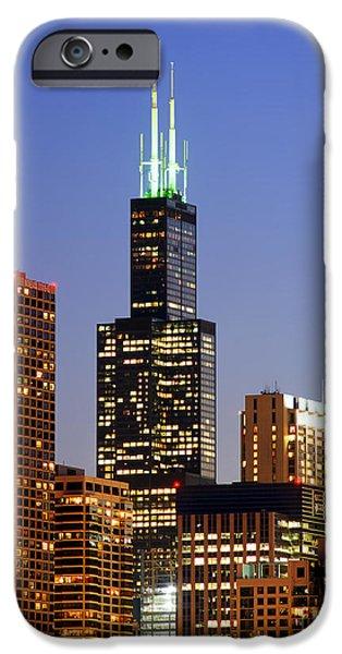 Willis Tower iPhone Cases - Willis Tower Skyscraper iPhone Case by Wernher Krutein