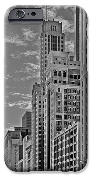 Interior Scene iPhone Cases - Willoughby Tower and 6 N Michigan Avenue Chicago  iPhone Case by Christine Till