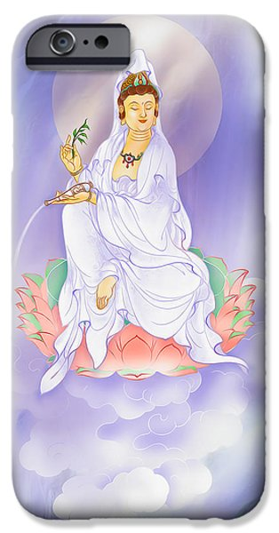 Willow Kuan Yin iPhone Case by Lanjee Chee