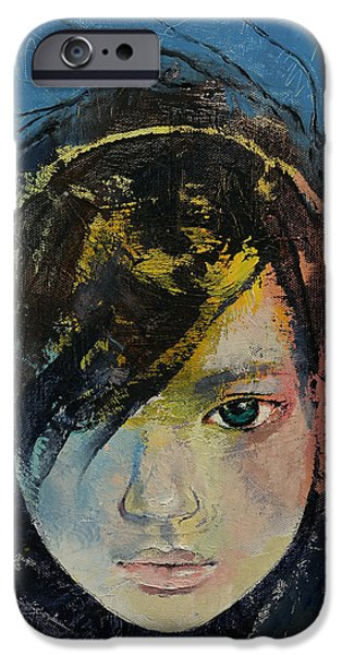 Michael Paintings iPhone Cases - Willow iPhone Case by Michael Creese