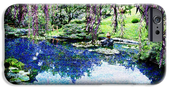 Overhang Digital iPhone Cases - Willow Pond iPhone Case by Jeanette Brown