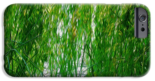 Willow Lake iPhone Cases - Willow Pool iPhone Case by Roselynne Broussard