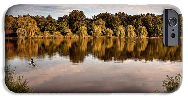 Willow Lake iPhone Cases - Willow Reflections iPhone Case by Brandon Alms