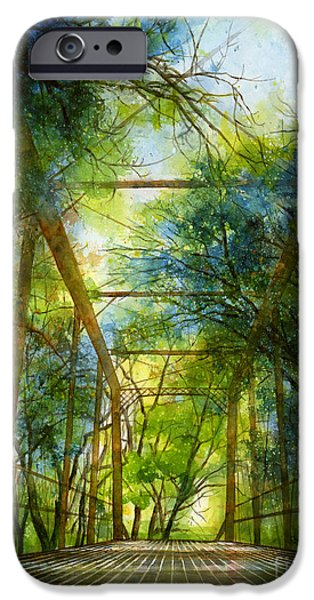 Willow iPhone Cases - Willow Springs Road Bridge iPhone Case by Hailey E Herrera