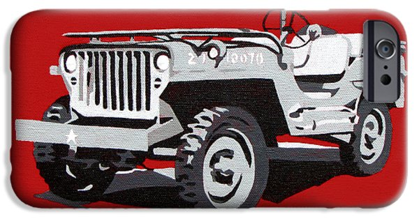 Iraq Paintings iPhone Cases - Willys Jeep iPhone Case by Slade Roberts