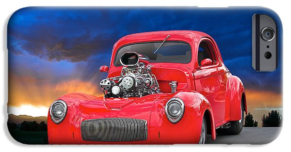 Automotive iPhone Cases - Willys Pro Street III iPhone Case by Dave Koontz