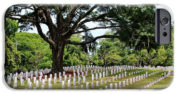 War iPhone Cases - Wilmington National Cemetery iPhone Case by Cynthia Guinn