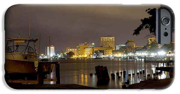 Nc iPhone Cases - Wilmington Riverfront - North Carolina iPhone Case by Mike McGlothlen