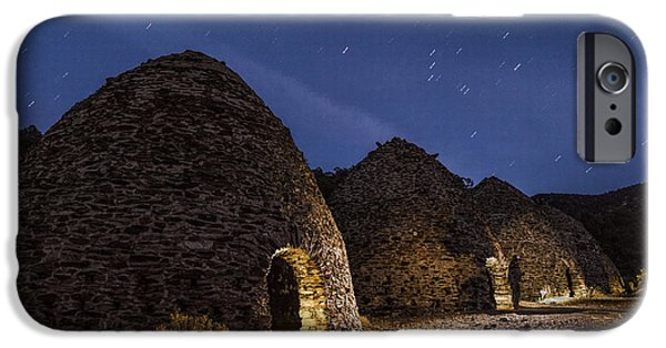 Night Photography iPhone Cases - Wilrose Charcoal Kilns iPhone Case by Cat Connor