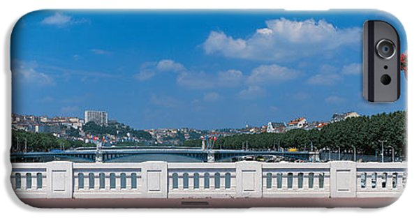 Lyon iPhone Cases - Wilson Bridge Lyon France iPhone Case by Panoramic Images