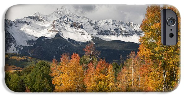 Snowy Day iPhone Cases - Wilson Peak iPhone Case by Aaron Spong