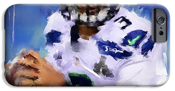 Seattle Seahawks iPhone Cases - Wilson Winner iPhone Case by Lourry Legarde