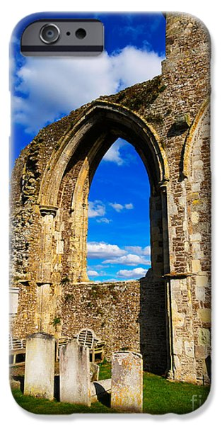 Historic England iPhone Cases - Winchelsea Church iPhone Case by Louise Heusinkveld