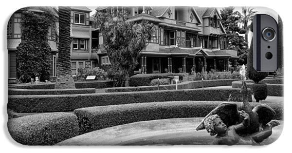 Haunted House iPhone Cases - Winchester House - San Jose California iPhone Case by Daniel Hagerman