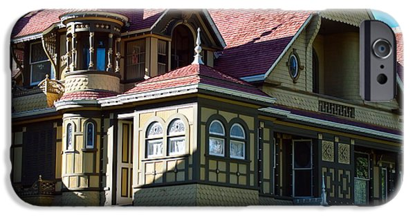 Haunted House iPhone Cases - Winchester Mystery House 2 iPhone Case by Christina Ochsner