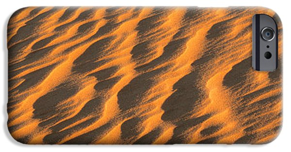 Sand Dunes iPhone Cases - Wind Blown Sand Tx Usa iPhone Case by Panoramic Images
