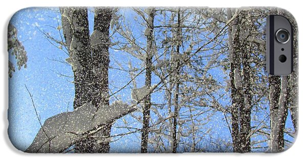 Drifting Snow Photographs iPhone Cases - Wind Blown Snow iPhone Case by Elizabeth Dow