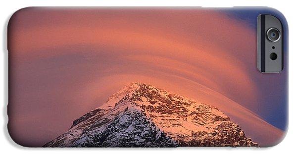 Dixon iPhone Cases - Wind Cloud Over Mount Everest iPhone Case by Grant  Dixon