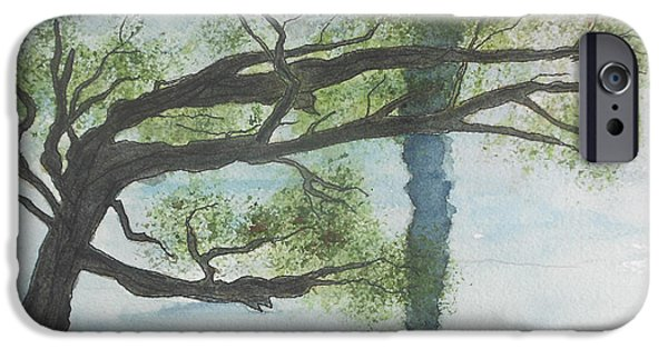 Windblown Paintings iPhone Cases - Wind iPhone Case by David  McCauley