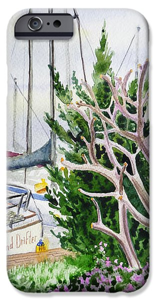 Wind Drifter Boat Oakland Marina California  iPhone Case by Irina Sztukowski