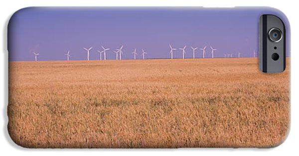 Power iPhone Cases - Wind Farm At Panhandle Area, Texas, Usa iPhone Case by Panoramic Images