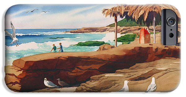 Surfer iPhone Cases - Wind n Sea Beach La Jolla California iPhone Case by Mary Helmreich