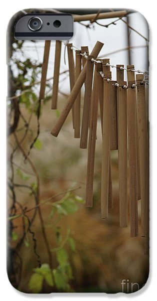 Bamboo Fence iPhone Cases - Wind Song - 3 iPhone Case by Linda Knorr Shafer