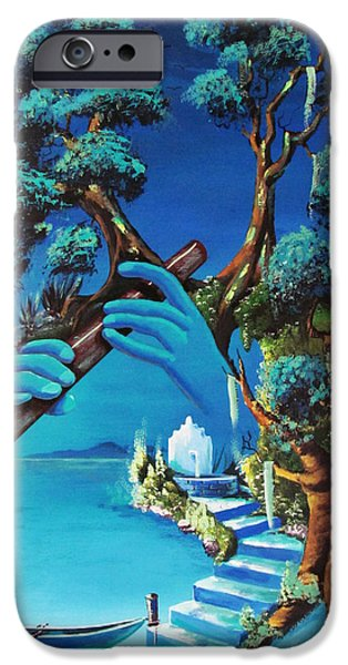 Willow Lake Paintings iPhone Cases - Wind Song iPhone Case by Kevin Escobar