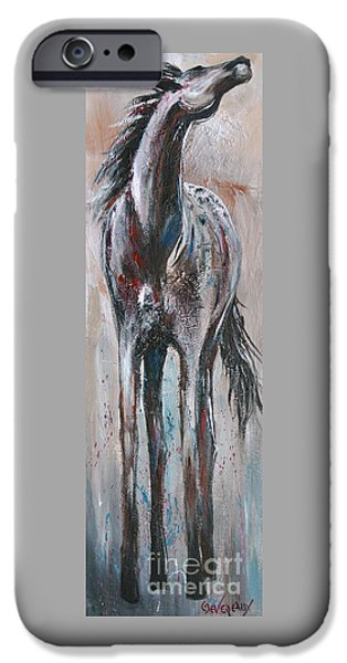 Horse iPhone Cases - Wind Talker iPhone Case by Cher Devereaux