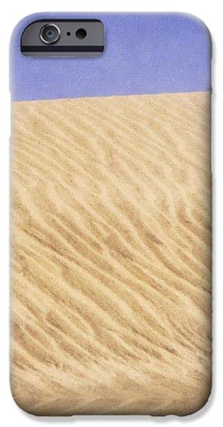 Wind Traces on Sand II iPhone Case by Maya Danielewska