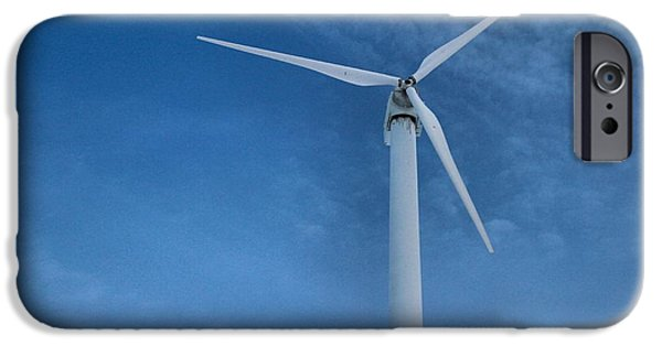 Electrical iPhone Cases - Wind Turbine And Clean Energy iPhone Case by Dan Sproul