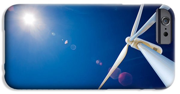 Composite iPhone Cases - Wind Turbine and sun  iPhone Case by Johan Swanepoel