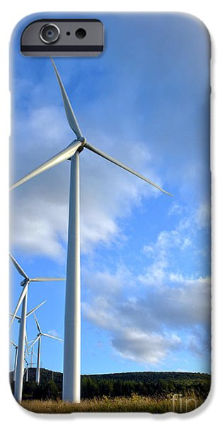 Wind Turbine Farm iPhone Case by Olivier Le Queinec