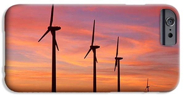 Generic iPhone Cases - Wind Turbine In The Barren Landscape iPhone Case by Panoramic Images