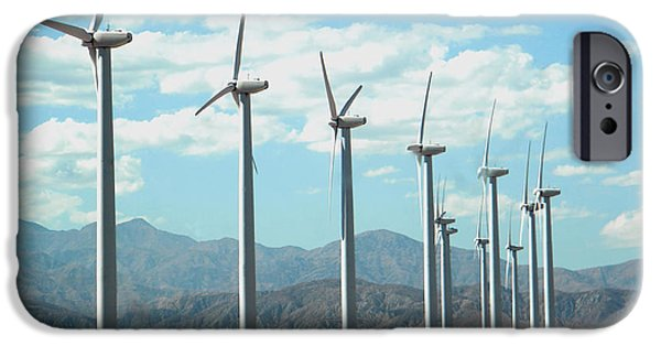 Michelle iPhone Cases - Wind Turbine iPhone Case by Michelle Frizzell-Thompson