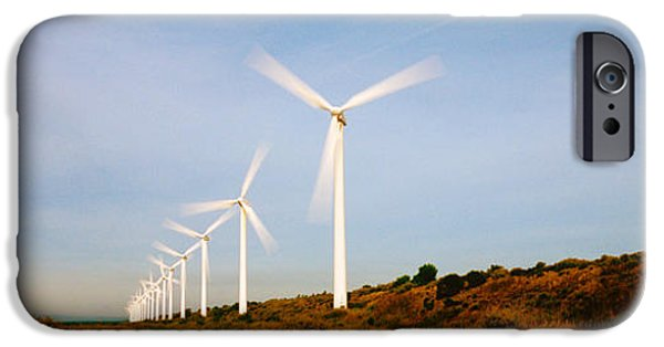 Technology iPhone Cases - Wind Turbines In Motion iPhone Case by Panoramic Images