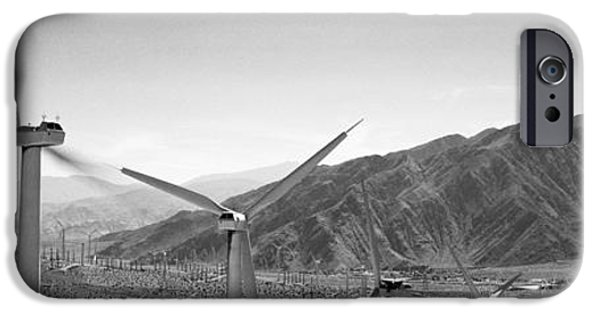 Power iPhone Cases - Wind Turbines On A Landscape iPhone Case by Panoramic Images