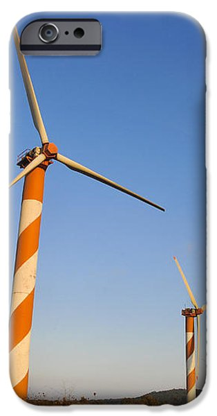 Wind turbines  iPhone Case by Shay Levy