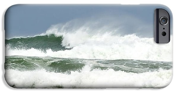 Michelle iPhone Cases - Wind Whipped Waves iPhone Case by Michelle Wiarda